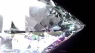 Seamless Turning 3D Brilliant Diamond. Full HD. video