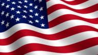 HD: Seamless USA flag waving video
