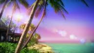 Seamlessly loopable! Tropical island paradise, Fiji. video