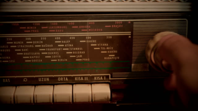 Searching Frequencies On Vintage Radio video