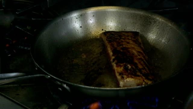 Searing Salmon video