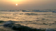 Seascape at sunset video