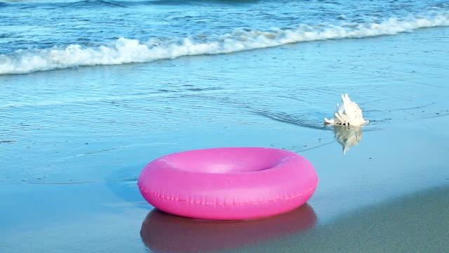 Seashell and inflatable tube video