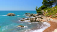Seashore in Montenegro, waves of the sea video