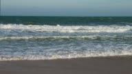 Seashore panorama to horizon. video