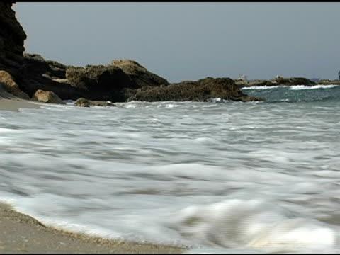 Seashore Waves Sand and Rocks video