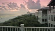 Seaside, Florida beach pavilion and houses video