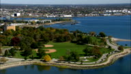 Seaside Park  - Aerial View - Connecticut,  Fairfield County,  United States video