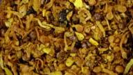Seasoning mix. Kitchen herbs background video