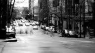 Seattle City Traffic Time Lapse BW video