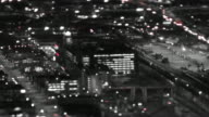 Seattle City Traffic Time Lapse Night Pan Tilt Shift video