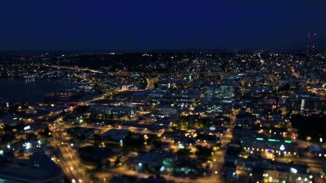 Seattle City Traffic Time Lapse Night Tilt Shift video