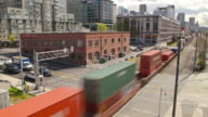 Seattle City Traffic Time Lapse Train video