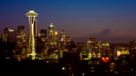 Seattle Cityscape Time Lapse Dusk video