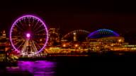 Seattle cityscape  time lapse video