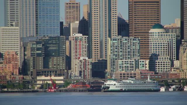 Seattle Ferry Cityscape video