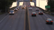 Seattle Highway 520 Traffic Bridge Sunset video