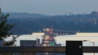 Seattle Highway 520 Traffic Time Lapse Bridge Dusk Pan -HD-NTSC-PAL video