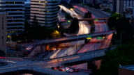 Seattle Highway at Dusk from Rooftop video
