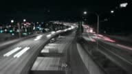 Seattle I-5 Traffic Time Lapse Night Tilt Shift video