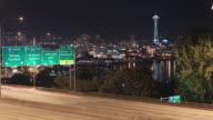 Seattle I-5 Traffic Time Lapse Night video