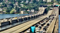 Seattle I-90 Traffic Time Lapse Zoom video