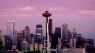 Seattle Skyline at dusk video