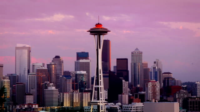 Seattle Skyline at dusk video