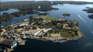 Seavey's Island  - Aerial View - Maine,  York County,  United States video