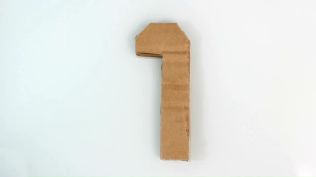 3 Second countdown cardboard paper video