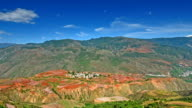 Second magnificent Red land in the world-valley and village video