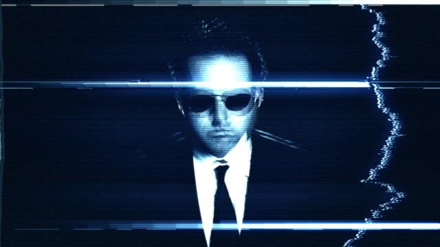 Secret Agent On Closed Circuit Damaged TV video