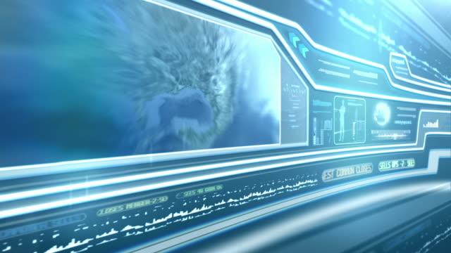 Secret service. Futuristic touch screen video
