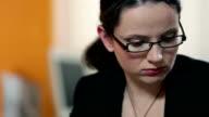 HD STOCK: Secretary in her office video