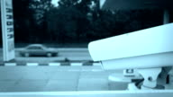 DOLLY: Security Camera of Gas Station video