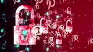 Security concept: Lock on digital screen, contrast, 3d render, Money, Gold video