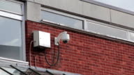 Security Surveillance CCTV Camera Urban Setting Gritty video