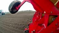 Seeding machine in operation video