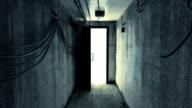 Seeking A Way Out Of Dark Cellar. Alpha Matte. video