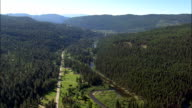 Seeley Swan-Corridor At Salmon Lake  - Aerial View - Montana, Missoula County, United States video