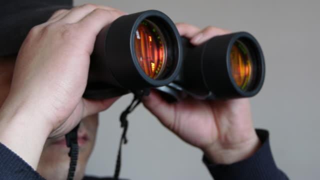 Seen through a telescope video