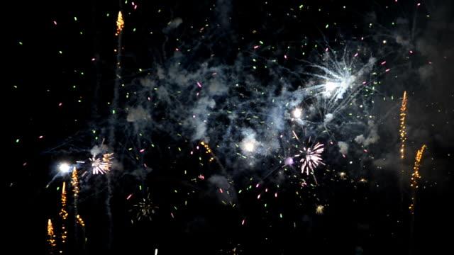 Segment of firework display video