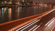 Seine River night-shot video