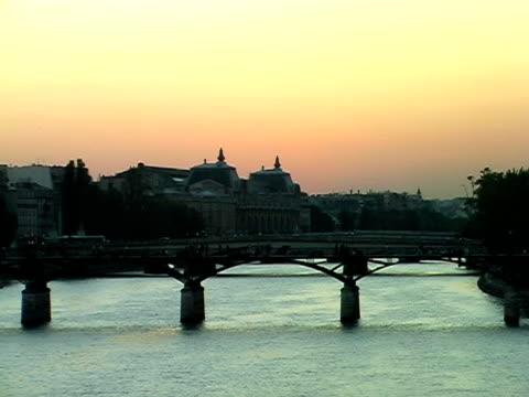 Seine river sunset video