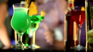 HD: Selection Of Cocktails In Night Club video