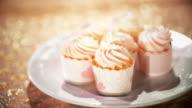 CU Selective Camera of Pink Cupcakes video