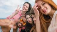 Selfie at the beach video