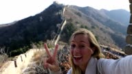 Selfie at the Great Wall of China video