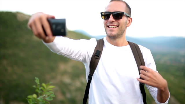 Selfie in the nature video