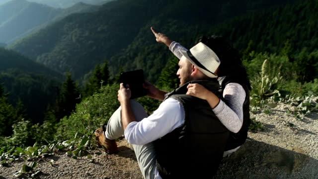 Selfie of Happy Hiking Couple video